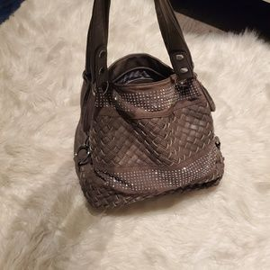 Sparkle faux leather handbag purse